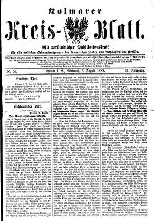 Kolmarer Kreisblatt vom 03.08.1887