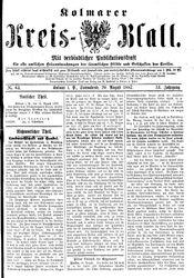 Kolmarer Kreisblatt (20.08.1887)