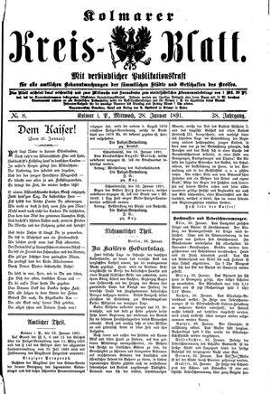 Kolmarer Kreisblatt vom 28.01.1891