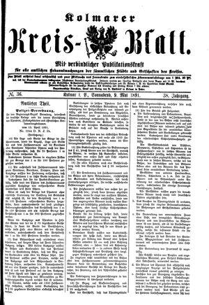 Kolmarer Kreisblatt vom 09.05.1891