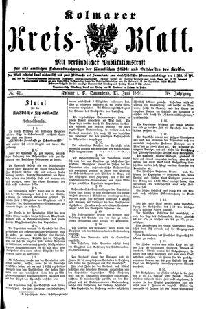Kolmarer Kreisblatt on Jun 13, 1891