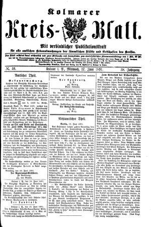Kolmarer Kreisblatt on Jun 17, 1891
