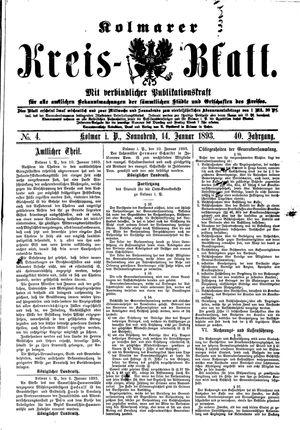 Kolmarer Kreisblatt on Jan 14, 1893