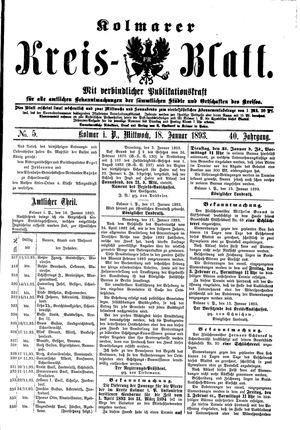 Kolmarer Kreisblatt vom 18.01.1893
