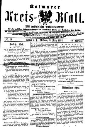 Kolmarer Kreisblatt vom 08.03.1893