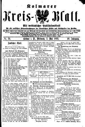 Kolmarer Kreisblatt vom 03.05.1893