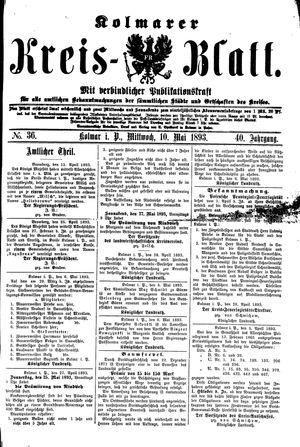 Kolmarer Kreisblatt vom 10.05.1893