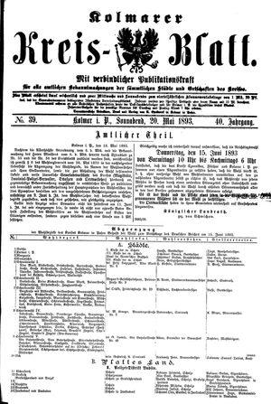 Kolmarer Kreisblatt vom 20.05.1893