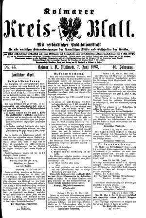 Kolmarer Kreisblatt vom 07.06.1893