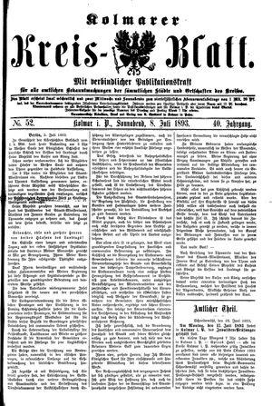 Kolmarer Kreisblatt on Jul 8, 1893