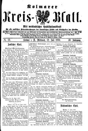 Kolmarer Kreisblatt vom 12.07.1893