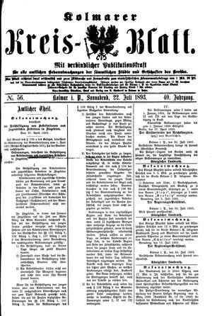 Kolmarer Kreisblatt vom 22.07.1893