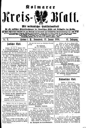 Kolmarer Kreisblatt on Jan 13, 1894