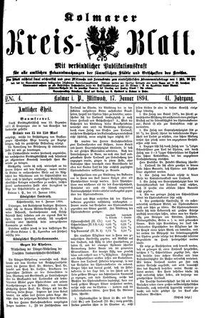 Kolmarer Kreisblatt vom 17.01.1894