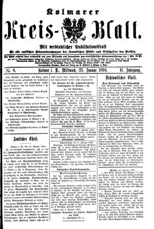 Kolmarer Kreisblatt vom 23.01.1894