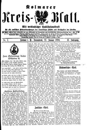Kolmarer Kreisblatt vom 27.01.1894