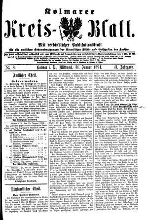 Kolmarer Kreisblatt vom 31.01.1894