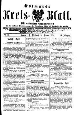 Kolmarer Kreisblatt vom 14.02.1894