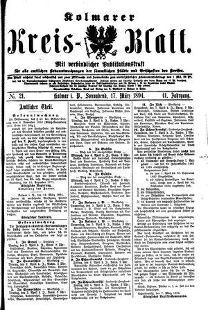Kolmarer Kreisblatt vom 17.03.1894