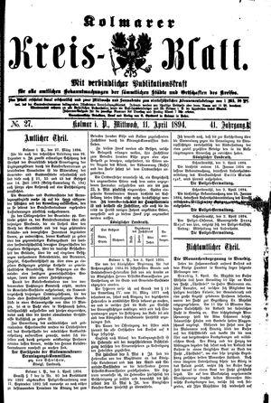 Kolmarer Kreisblatt vom 11.04.1894