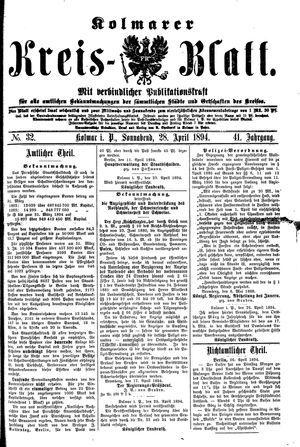 Kolmarer Kreisblatt vom 28.04.1894