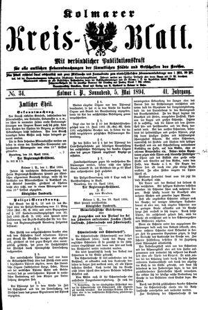 Kolmarer Kreisblatt vom 05.05.1894