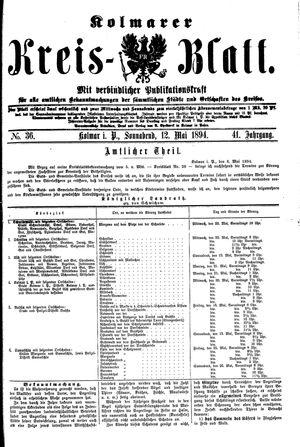 Kolmarer Kreisblatt on May 12, 1894