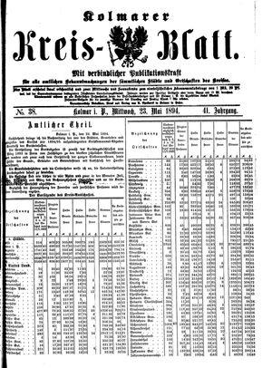 Kolmarer Kreisblatt vom 23.05.1894