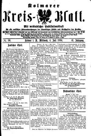 Kolmarer Kreisblatt vom 04.07.1894
