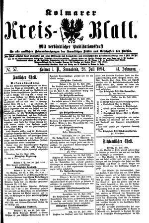 Kolmarer Kreisblatt vom 28.07.1894