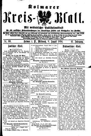 Kolmarer Kreisblatt vom 08.08.1894