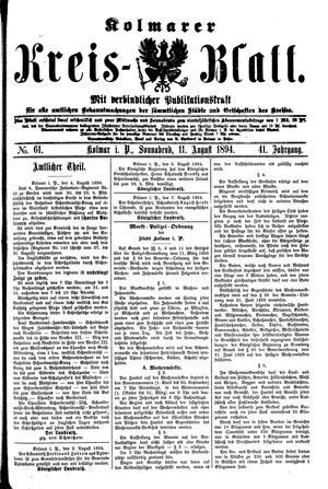 Kolmarer Kreisblatt vom 11.08.1894