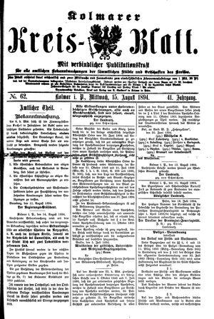 Kolmarer Kreisblatt vom 15.08.1894