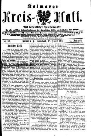 Kolmarer Kreisblatt vom 18.08.1894