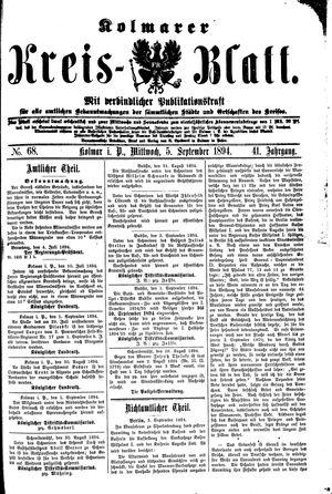 Kolmarer Kreisblatt vom 05.09.1894