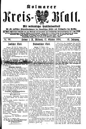 Kolmarer Kreisblatt vom 17.10.1894