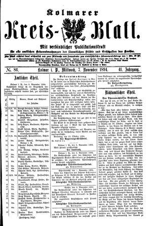 Kolmarer Kreisblatt vom 07.11.1894