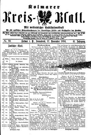Kolmarer Kreisblatt vom 17.11.1894