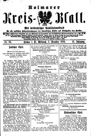 Kolmarer Kreisblatt vom 05.12.1894