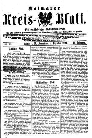 Kolmarer Kreisblatt vom 08.12.1894