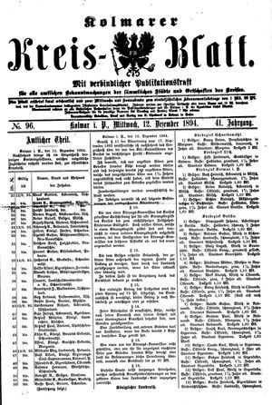 Kolmarer Kreisblatt vom 12.12.1894