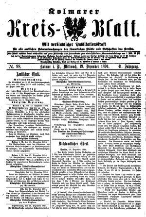 Kolmarer Kreisblatt vom 19.12.1894