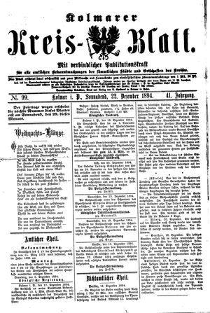 Kolmarer Kreisblatt vom 22.12.1894