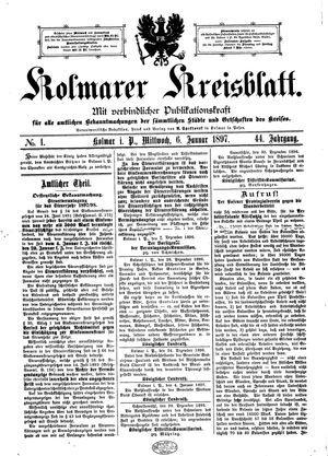 Kolmarer Kreisblatt vom 06.01.1897