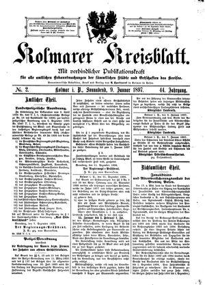 Kolmarer Kreisblatt vom 09.01.1897