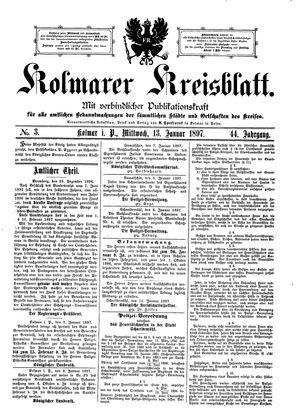 Kolmarer Kreisblatt vom 13.01.1897