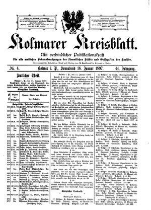 Kolmarer Kreisblatt vom 16.01.1897