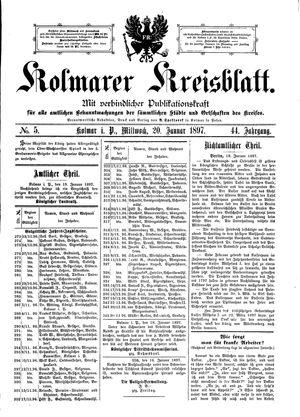 Kolmarer Kreisblatt vom 20.01.1897