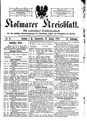 Kolmarer Kreisblatt vom 23.01.1897