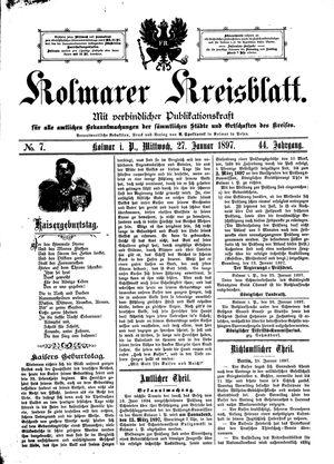 Kolmarer Kreisblatt vom 27.01.1897